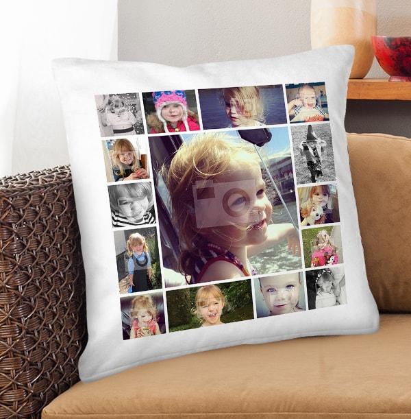 Multi Photo Personalised Cushion