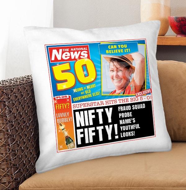 Nifty Fifty Photo Cushion