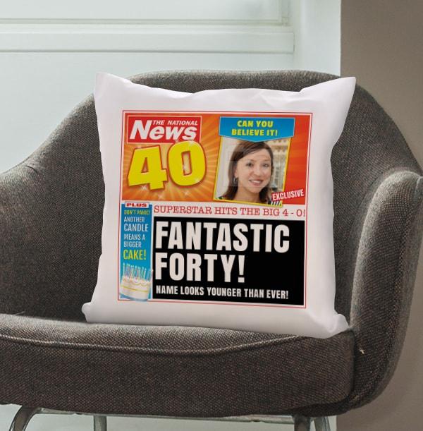 Fantastic Forty Photo Cushion