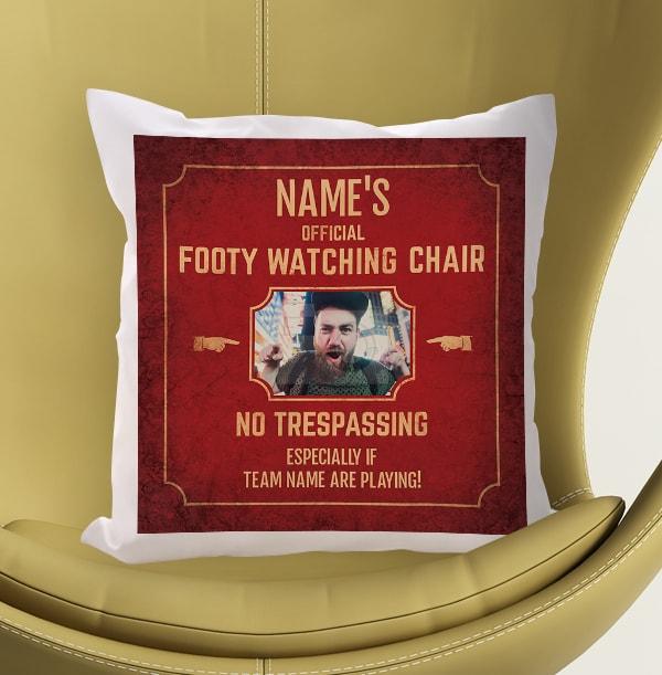 Footy Watching Chair Photo Cushion