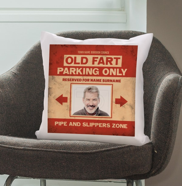 Old Fart Parking Photo Cushion