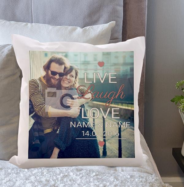 Live, Laugh, Love Photo Cushion