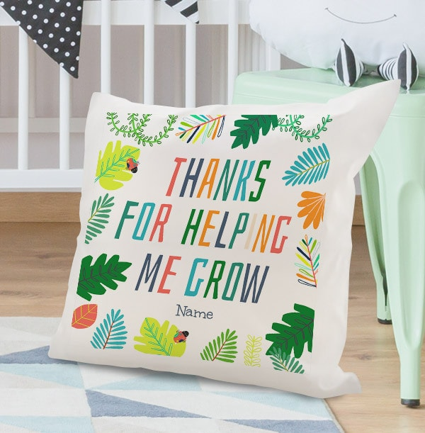 Helping Me Grow Personalised Cushion