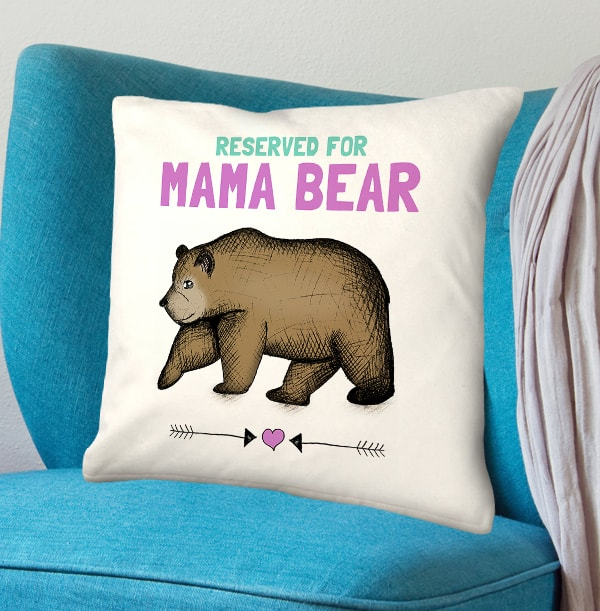 ZDISC Personalised Cushion - Reserved for Mama Bear