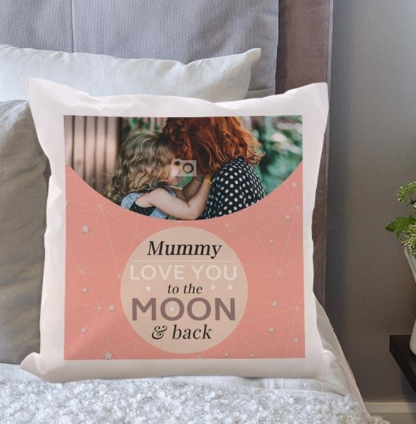 Mummy To The Moon & Back Photo Cushion