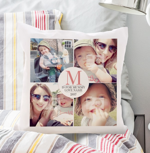 M is for Mummy Photo Collage Cushion