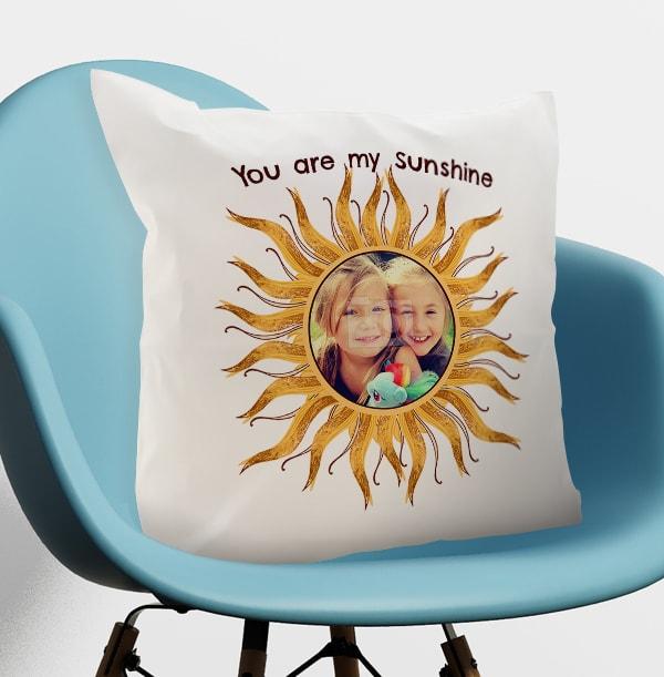 You Are My Sunshine Photo Cushion