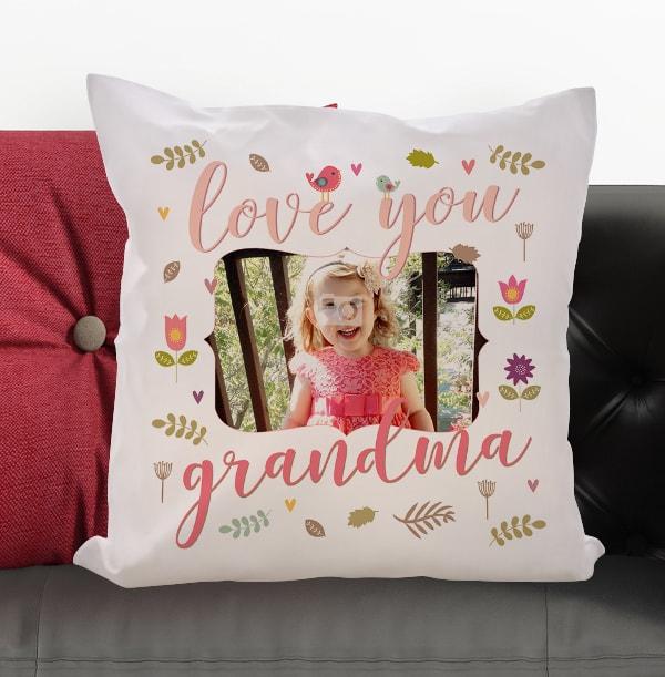 Love You Grandma Photo Cushion