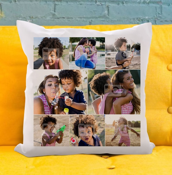 8 Photo Collage Cushion