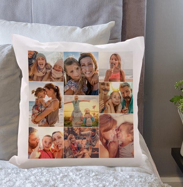 9 Photo Collage Cushion