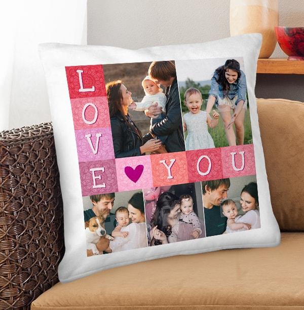 Love You 5 Photo Cushion