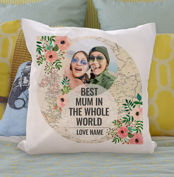 Best Mum In The Whole World Photo Cushion