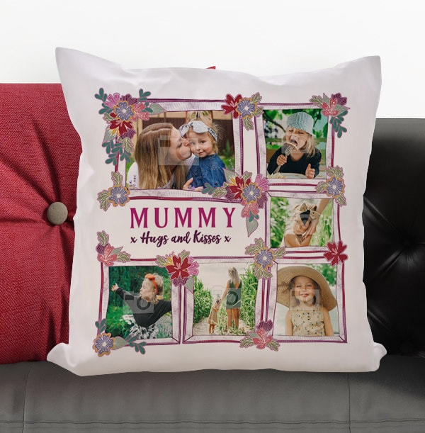 Mummy Hugs & Kisses Photo Cushion