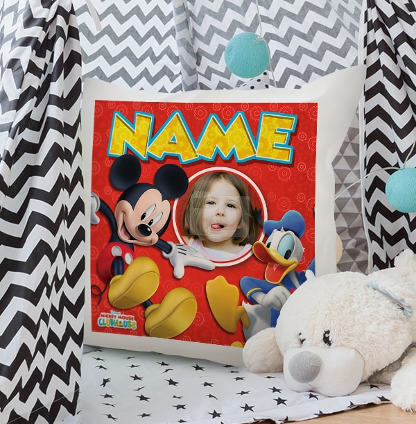 Mickey Mouse Donald Duck Personalised Disney Cushion