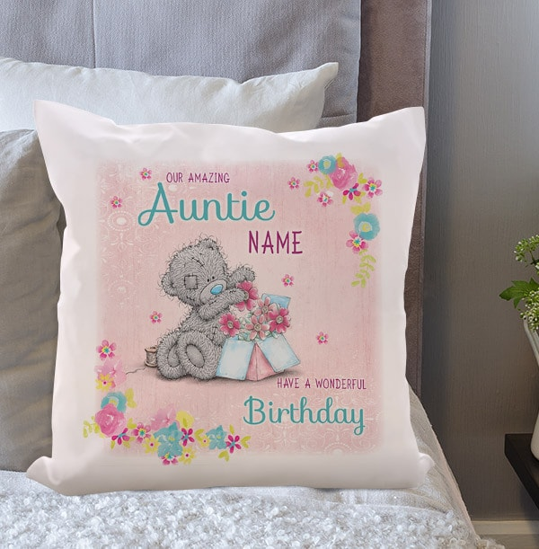 Auntie Birthday Me To You Personalised Cushion