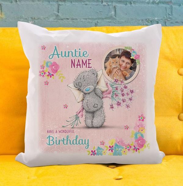 Auntie Birthday Me To You Photo Cushion