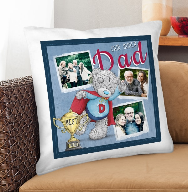 Our Super Dad Me To You Photo Upload Cushion
