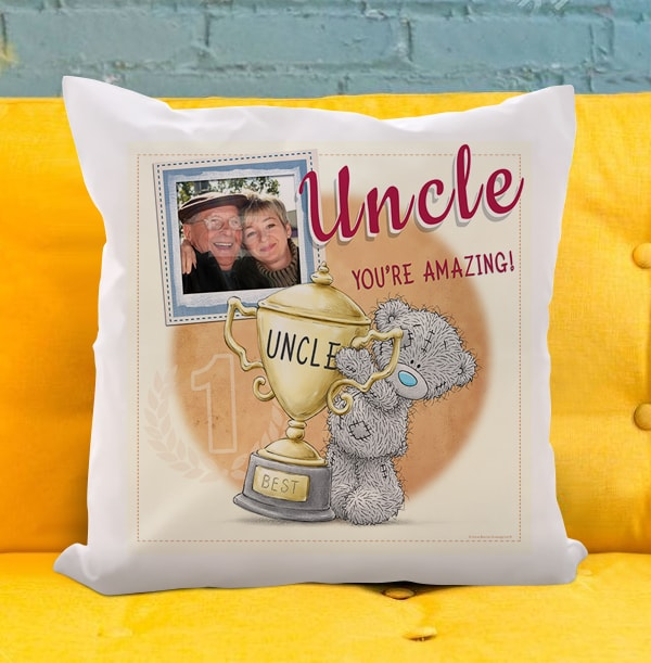 Uncle You're Amazing Me To You Photo Upload Cushion