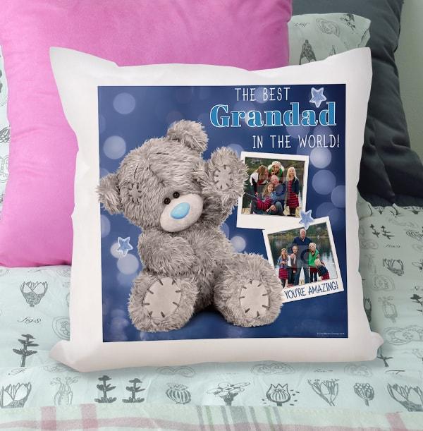 Best Grandad Me To You Photo Upload Cushion
