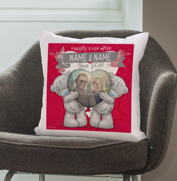 Happily Ever After Romantic Photo Cushion