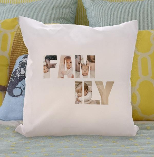 Family Photo Upload Cushion