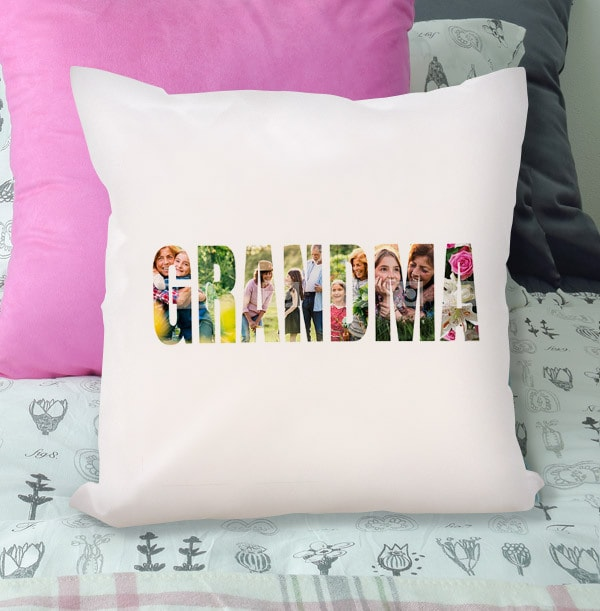 Grandama Photo Upload Cushion