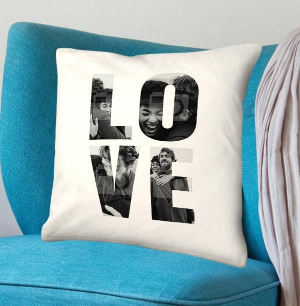 Love Photo Upload Cushion