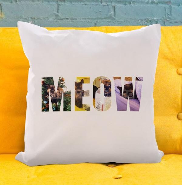 Meow Photo Upload Cushion