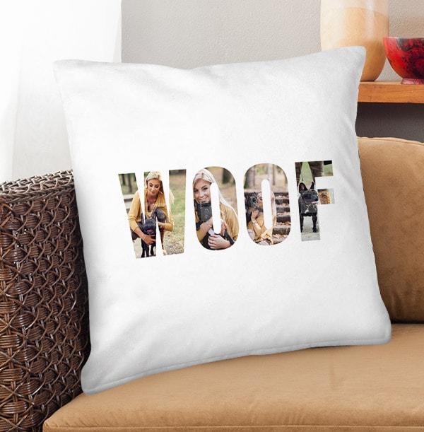 Woof Photo Upload Cushion