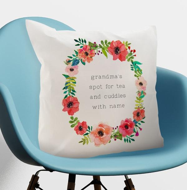 Grandma's Spot Personalised Cushion