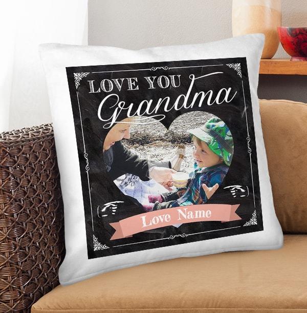 Love You Grandma Personalised Chalk Cushion