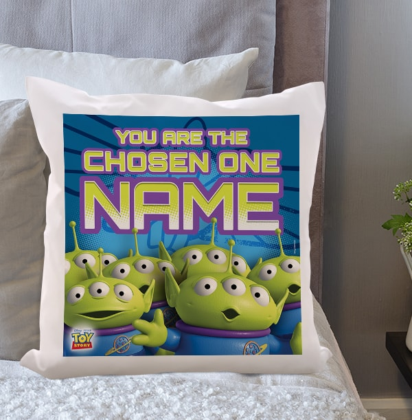 Toy Story Aliens Personalised Cushion