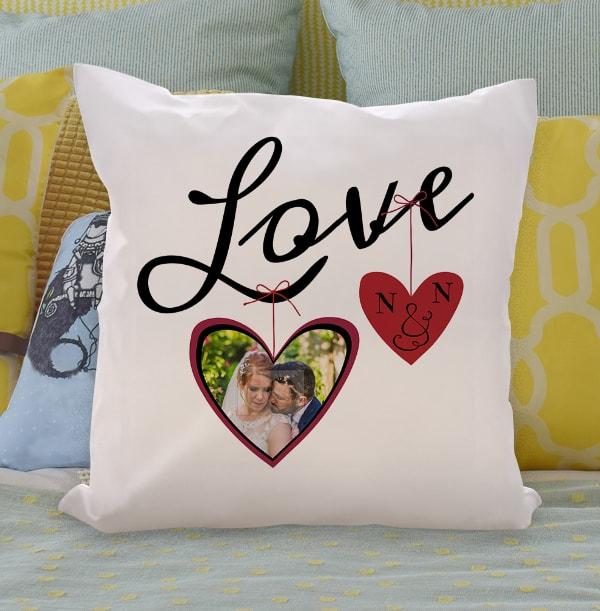 Personalised Photo Upload Heart Cushion