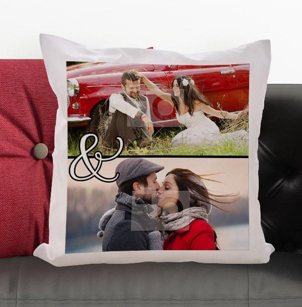 Ampersand Double Photo Cushion