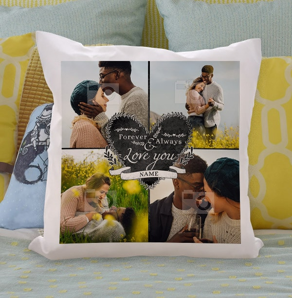 Forever and Always Multi Photo Cushion