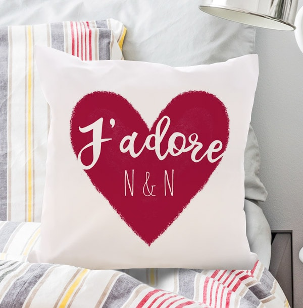 J'Adore Red Personalised Cushion