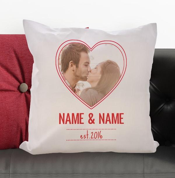 Love Heart Photo Cushion