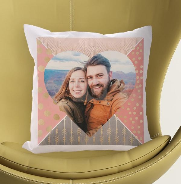 Heart Full Photo Upload Cushion