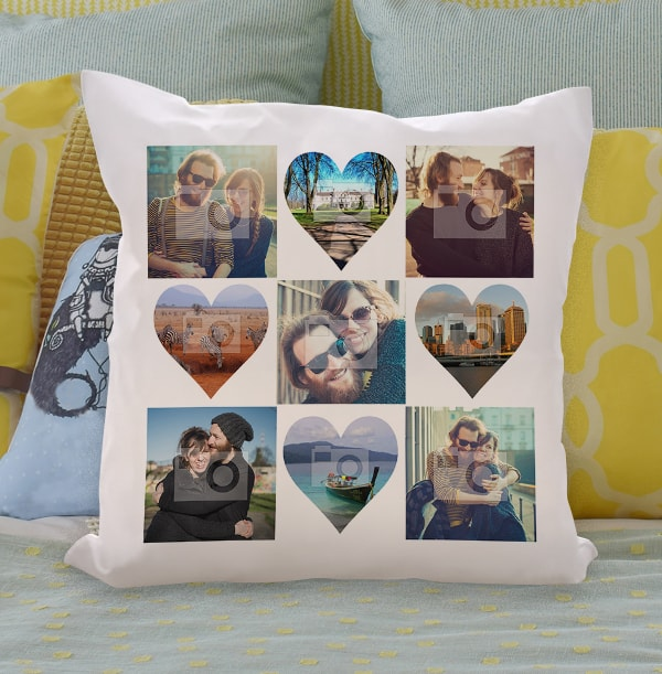 Multi Photo Upload Collage Personalised Cushion