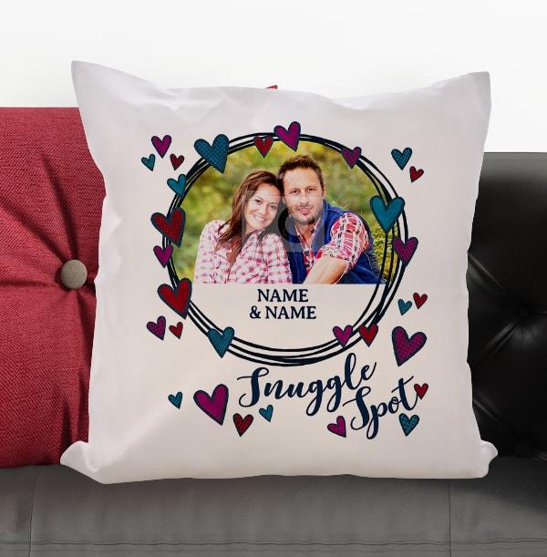 Snuggle Spot Personalised Photo Cushion