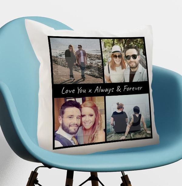 Always & Forever Multi Photo Cushion