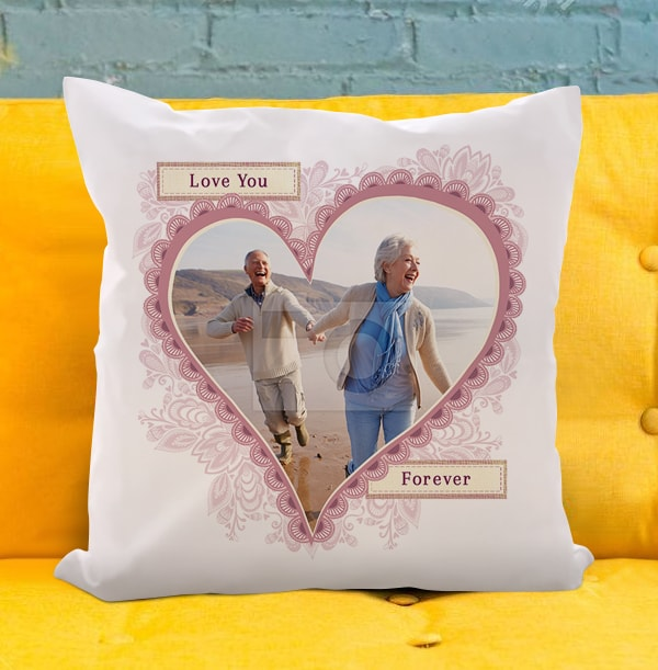 Love You Forever Photo Cushion