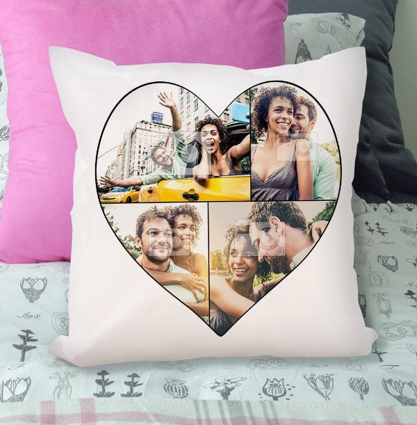 Heart Multi Photo Cushion