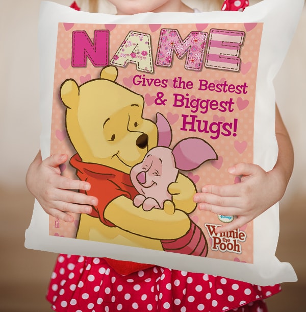 Winnie The Pooh & Piglet Personalised Cushion
