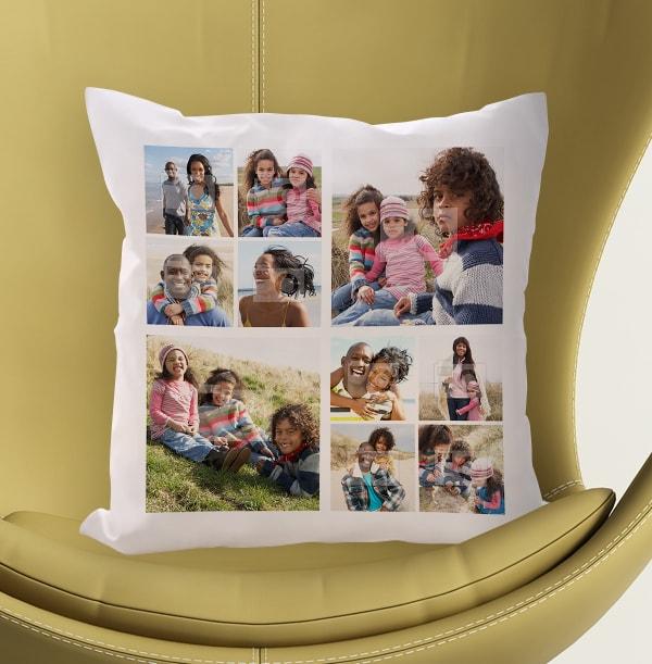 10 Photo Collage Cushion