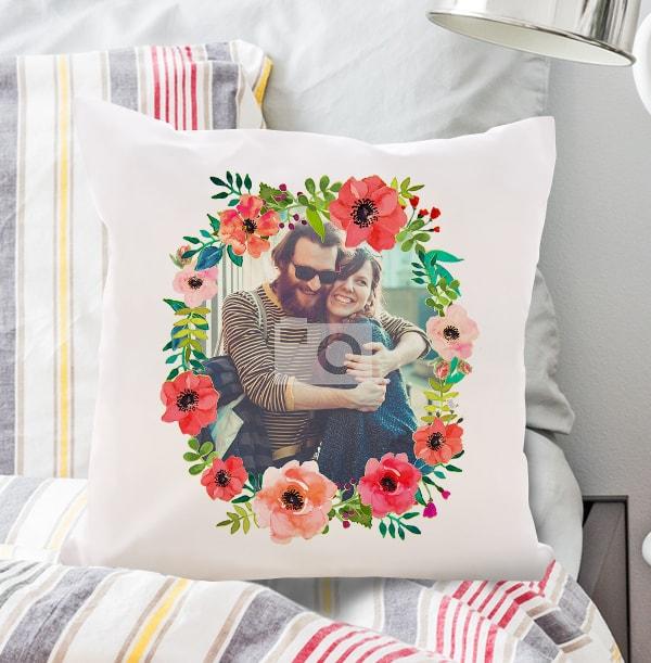Flowery Single Photo Cushion