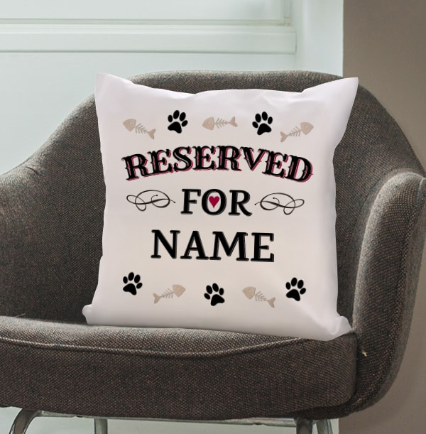 Reserved For Cat Personalised Cushion
