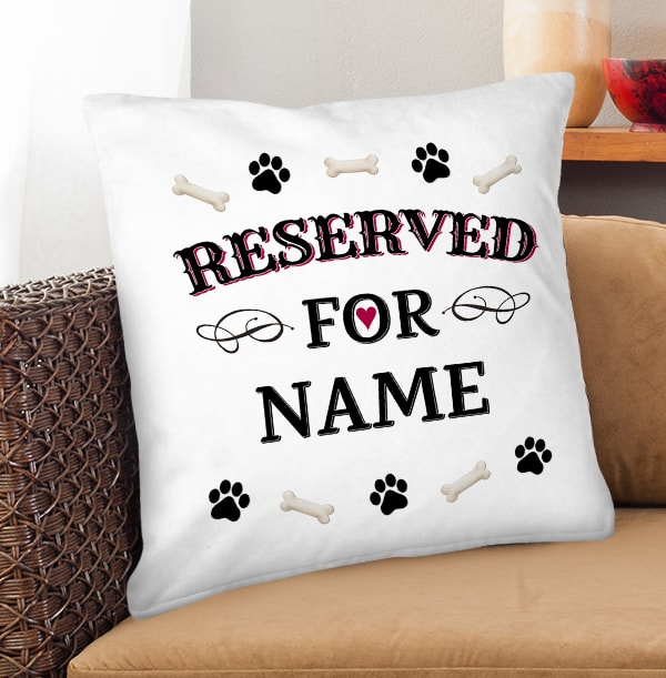 Reserved For Dog Personalised Cushion