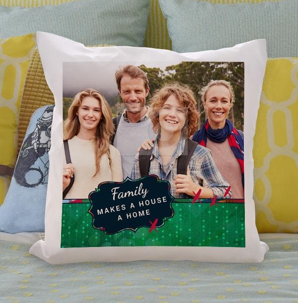 Make a House a Home Photo Cushion