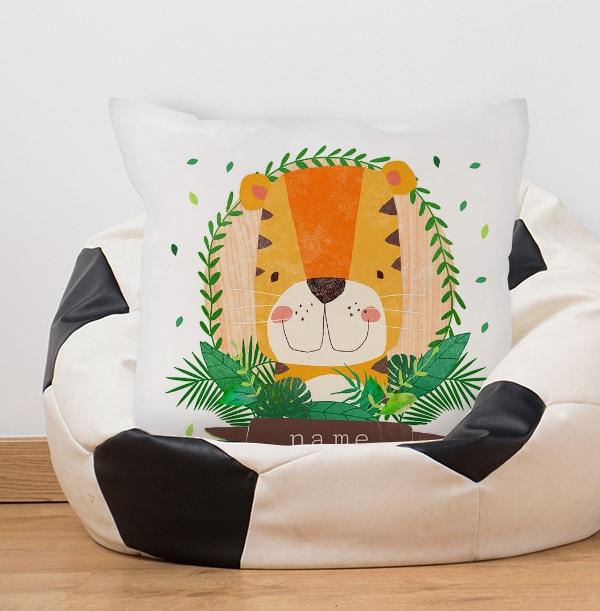 Kids Tiger Personalised Cushion